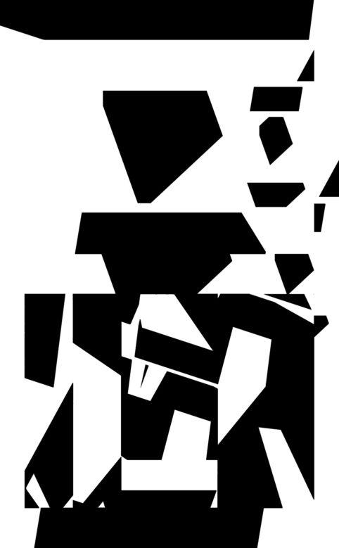 Pristowscheg.The Break.Perspectivas cromáticas.Abstract Art. Digital Art.Madame Black. 106x66 cm | 42x26 in