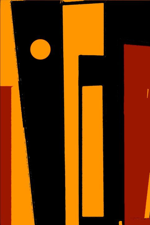 Pristowscheg.The Break.Perspectivas cromáticas.Abstract Art. Digital Art.Composición de tres colores. 114x76 cm | 45x30 in