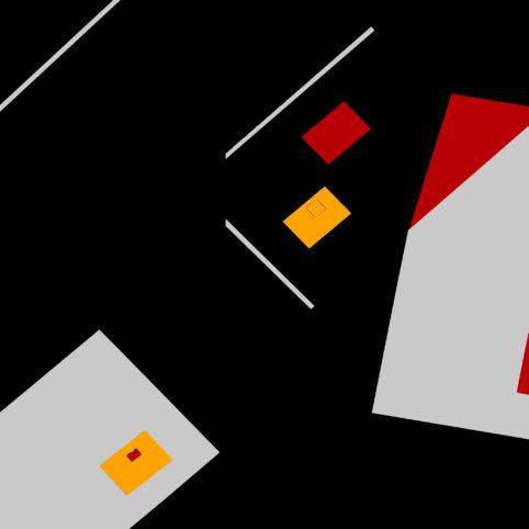 Pristowscheg.The Break.Perspectivas cromáticas.Abstract Art. Digital Art.Composición #4. 91x91 cm | 36x36 in