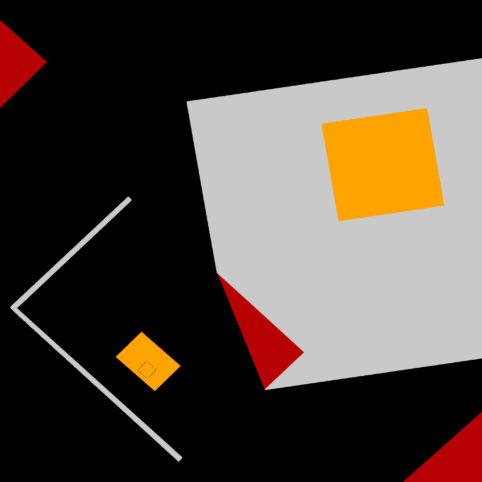 Pristowscheg.The Break.Perspectivas cromáticas.Abstract Art. Digital Art.Composición #5. 91x91 cm | 36x36 in
