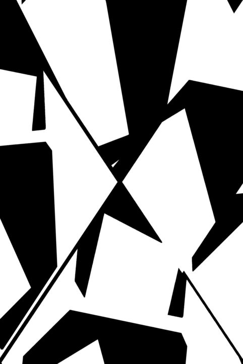 Pristowscheg.The Break.Perspectivas cromáticas.Abstract Art. Digital Art.Composición en blanco y y negro. 114x76 cm | 45x30 in