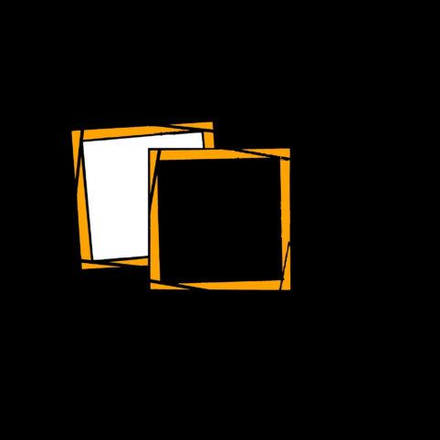 Pristowscheg.The Break.Perspectivas cromáticas.Abstract Art. Digital Art.Composición #12 con amarillo. 91x91 cm | 36x36 in