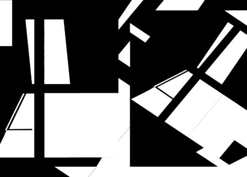 Pristowscheg.The Break.Perspectivas cromáticas.Abstract Art. Digital Art.Petite Suite Noire #1. 91x127 cm | 36x50  in