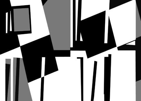 Pristowscheg.The Break.Perspectivas cromáticas.Abstract Art. Digital Art.Composición #8 con gris. 91x127 cm | 36x50 in