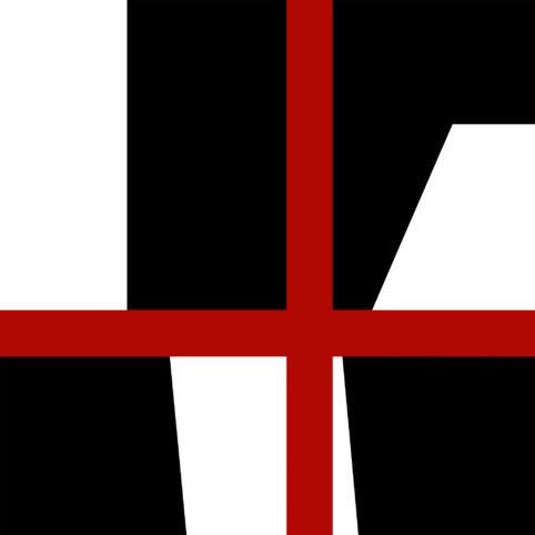 Pristowscheg.The Break.Perspectivas cromáticas.Abstract Art. Digital Art.Tricromía #4. 91x91 cm | 36x36 in