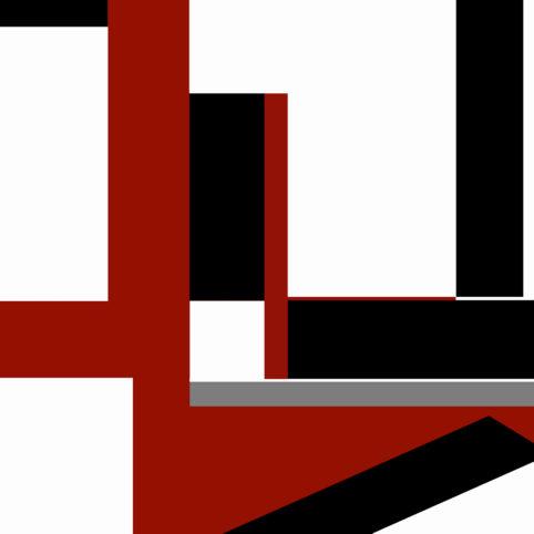 Pristowscheg.The Break.Perspectivas cromáticas.Abstract Art. Digital Art.Tricromía #11. 91x91 cm | 36x36 in