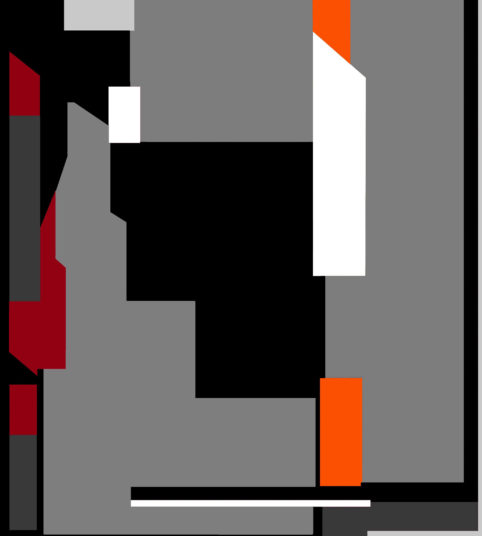 Pristowscheg.The Break.Perspectivas cromáticas.Abstract Art. Digital Art.Roblacka. 101x91 cm | 40x36 in