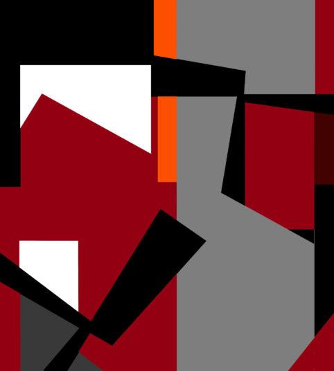Pristowscheg.The Break.Perspectivas cromáticas.Abstract Art. Digital Art.Composición casi cuadrada. 101x91 cm | 40x30 in