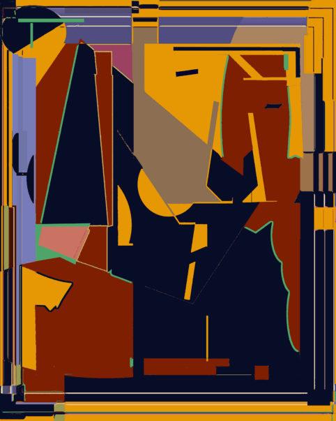 Pristowscheg.Terro.Perspectivas cromáticas.Abstract Art.Digital Art.Ensayo para Mokambo. 120x96 cm | 47,5x38 in