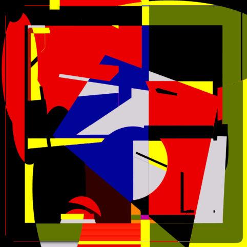 Pristowscheg.Terro.Perspectivas cromáticas.Abstract Art.Digital Art.Policromía en rojo. 101x101 cm | 40x40 in