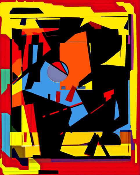 Pristowscheg.Terro.Perspectivas cromáticas.Abstract Art.Digital Art.Encuentro. 114x91 cm | 45x36  in