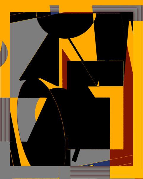 Pristowscheg.Terro.Perspectivas cromáticas.Abstract Art.Digital Art.Como una fantasía. 106x85 cm | 42x33,6 in
