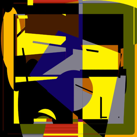 Pristowscheg.Terro.Perspectivas cromáticas.Abstract Art.Digital Art.Ensayo. 101x101 cm | 40x40 in