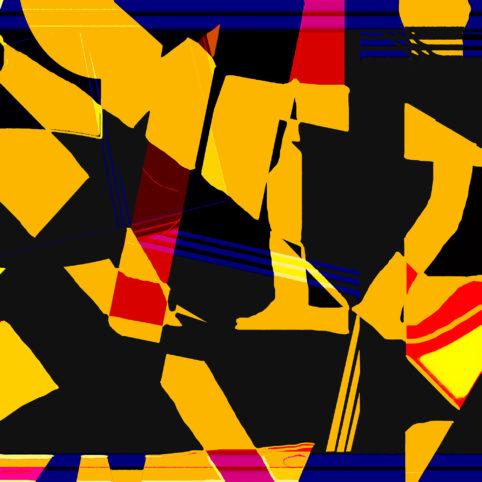 Pristowscheg.Terro.Perspectivas cromáticas.Abstract Art.Digital Art.Lips. 101x101 cm | 40x40 in