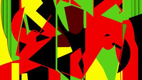 Pristowscheg.Terro.Perspectivas cromáticas.Abstract Art.Digital Art.Phantomax. 101x180 cm | 40x71,11 in