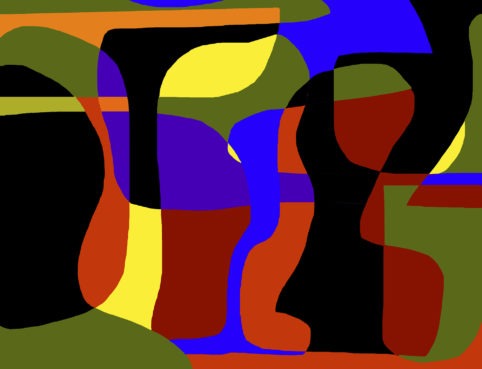 Pristowscheg.Garbuglio.Perspectivas cromáticas.Abstract Art.Digital Art.Composición estructurada. 116x152 cm | 46x60 in