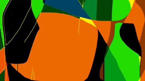 Pristowscheg.Garbuglio.Perspectivas cromáticas.Abstract Art.Digital Art.Abstracción Imaginaria. 101x180 cm | 40x71,11 in