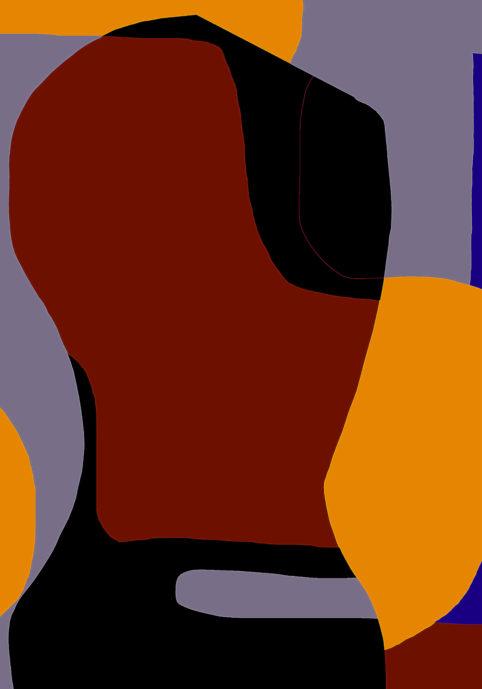 Pristowscheg.Garbuglio.Perspectivas cromáticas.Abstract Art.Digital Art.Escultura amaranto. 127x89 cm | 50x35 in