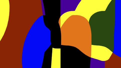 Pristowscheg.Garbuglio.Perspectivas cromáticas.Abstract Art.Digital Art.Composición rítmica #1. 101x180 cm | 40x71,11 in