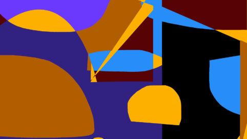 Pristowscheg.Garbuglio.Perspectivas cromáticas.Abstract Art.Digital Art.Composición Rítmica #3. 101x180 cm | 40x71,11 in