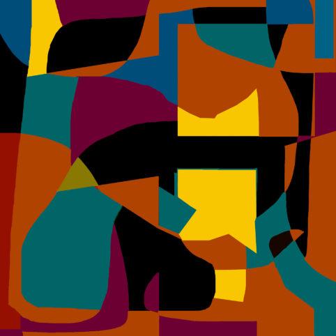 Pristowscheg.Garbuglio.Perspectivas cromáticas.Abstract Art.Digital Art.Finale. 91x91 cm | 36x36 in