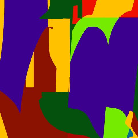 Pristowscheg.Garbuglio.Perspectivas cromáticas.Abstract Art.Digital Art.Lanzichenecco. 101x101 cm | 40x40 in