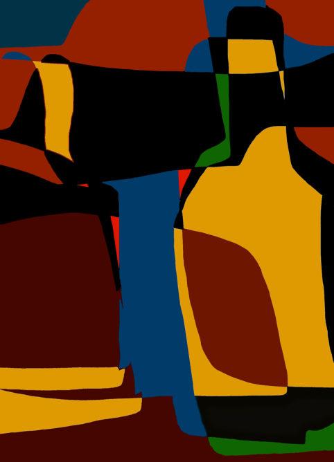 Pristowscheg.Garbuglio.Perspectivas cromáticas.Abstract Art.Digital Art.Natura Morta #3. 91x66 cm | 36x26 in