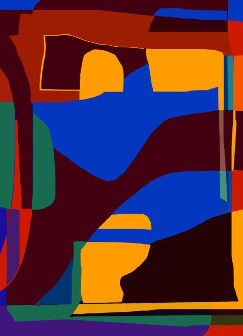 Pristowscheg.Garbuglio.Perspectivas cromáticas.Abstract Art.Digital Art.Panorama. 91x66 cm | 36x26 in