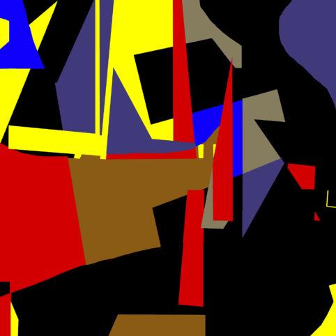 Pristowscheg.Garbuglio.Perspectivas cromáticas.Abstract Art.Digital Art.Penumbra. 91x91 cm | 36x36 in