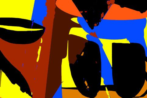 Pristowscheg.Garbuglio.Perspectivas cromáticas.Abstract Art.Digital Art.Sofonisba. 100x150 cm | 40x60  in