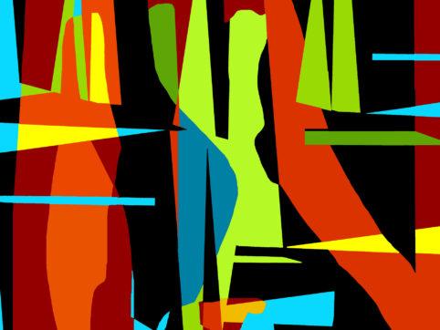 Pristowscheg.Garbuglio.Perspectivas cromáticas.Abstract Art.Digital Art.Garbuglio. 76x101 cm | 30x40 in