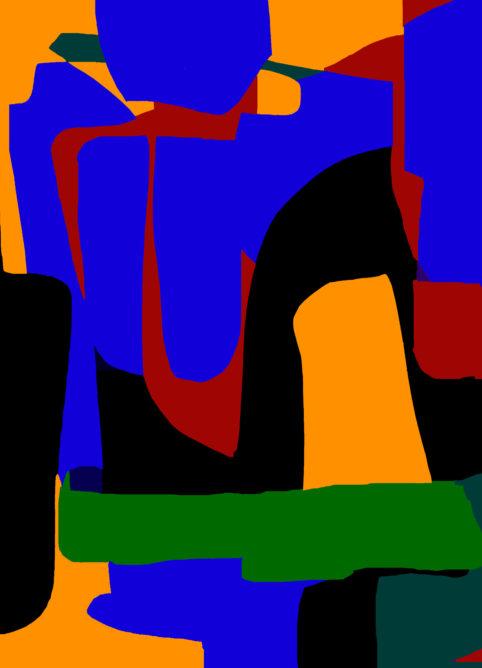 Pristowscheg.Garbuglio.Perspectivas cromáticas.Abstract Art.Digital Art.Futuribile. 91x66 cm | 36x26 in