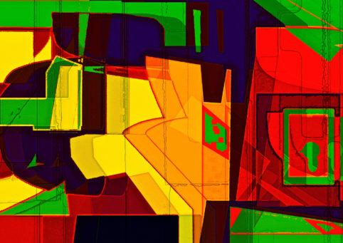 Pristowscheg. Los galimatías. Perspectivas cromáticas. Abstract Art. Digital Art.Sin título. 84x119 cm | 33x47  in