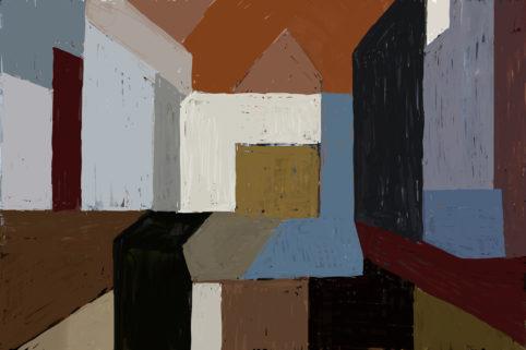 Pristowscheg. Digital Art. Abstract Art. Catedral 76x114 cm |  30x45 in