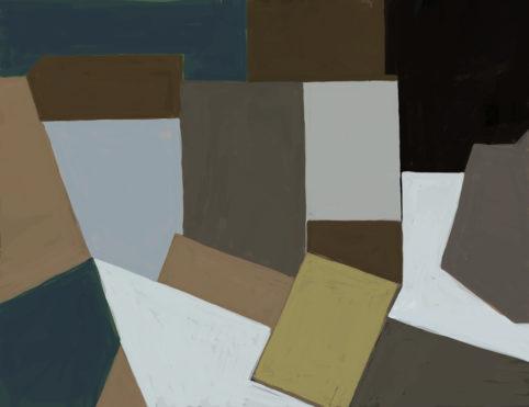 Pristowscheg. Digital Art. Abstract Art. Cinco caras 51x66 cm | 20x26 in