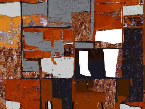 Pristowscheg. Digital Art. Abstract Art. Collage psicodélico 76x101 cm | 30x40 in