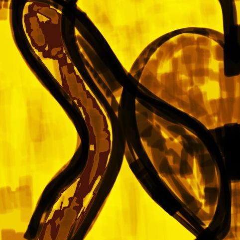 Pristowscheg. Digital Art. Abstract Art. Flor 50x50 cm | 20x20 in
