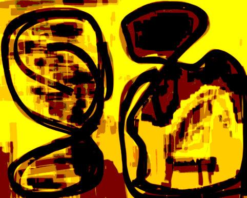 Pristowscheg. Digital Art. Abstract Art. Brujería 60x76 cm | 24x30 in