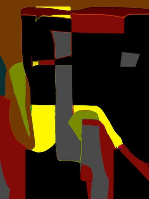 Pristowscheg. Digital Art. Abstract Art. Dama con sigaretta 81x60 cm | 32x24 in