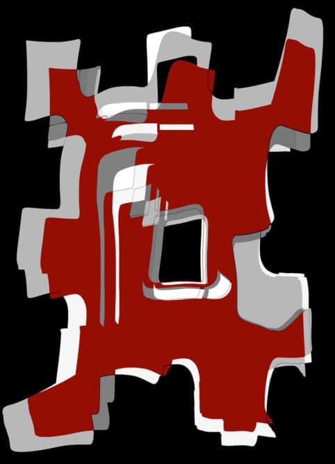 Pristowscheg. Digital Art. Abstract Art. Guerrero aymara 91x66 cm | 36x26 in