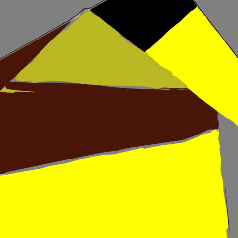Pristowscheg. Digital Art. Abstract Art. ESTRUCTURA PIRAMIDAL 76×76 cm 30×30 in 76x76 cm | 30x30 in