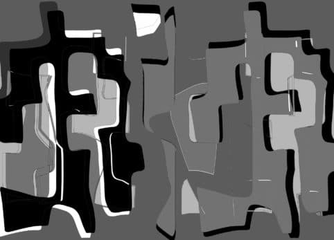 Pristowscheg. Digital Art. Abstract Art. Psicopompos y sombras 91x127 cm | 36x50 in