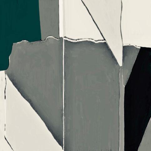 Pristowscheg. Digital Art. Abstract Art. Zúlfun 90x90 cm | 36x36  in