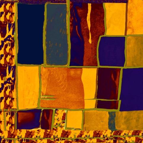 Pristowscheg. Digital Art. Abstract Art. Collage psicodélico 91x91 cm | 36x36 in