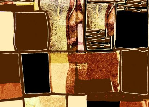 Pristowscheg. Digital Art. Abstract Art. Enigma psicodélico 91x127 cm | 36x50 in