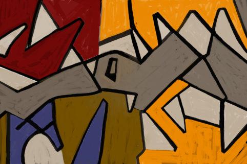 Pristowscheg. Digital Art. Abstract Art. Calle de los Turcos 100x150 cm | 40x60 in