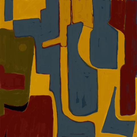 Pristowscheg. Digital Art. Abstract Art. Aureliano, el Coronel 100x100 cm | 40x40 in