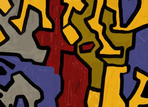 Pristowscheg. Digital Art. Abstract Art. Eran más de tres mil, tres mil cuatrocientos ocho 90x127 cm | 36x50 in
