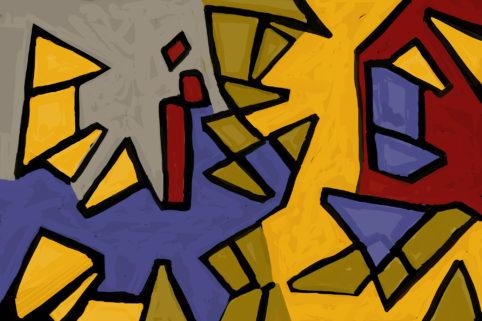 Pristowscheg. Digital Art. Abstract Art. Frente al pelotón de fusilamiento 100x150 cm | 40x60 in