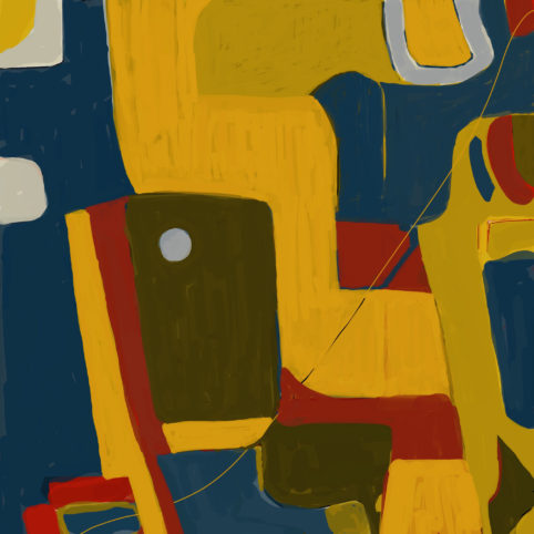 Pristowscheg. Digital Art. Abstract Art. Gerineldo Márquez 100x100 cm | 40x40 in